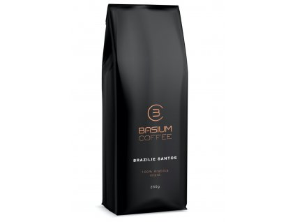 kava brazilie santos mleta cerstve prazena