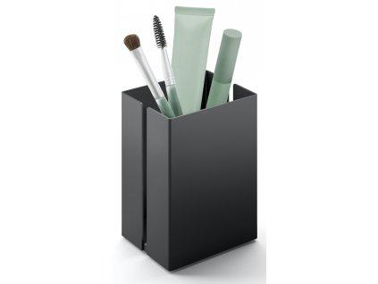 Nádoba na kosmetiku, černý práškový nerez, malá, Potes ZACK
