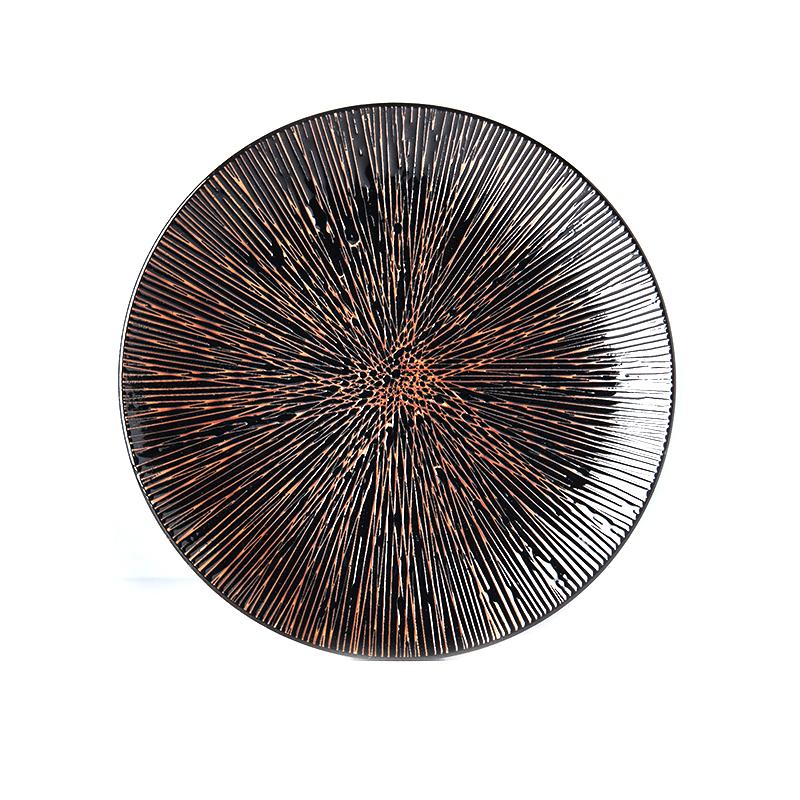 Levně Mělký talíř Bronze Converging 29 cm MADE IN JAPAN