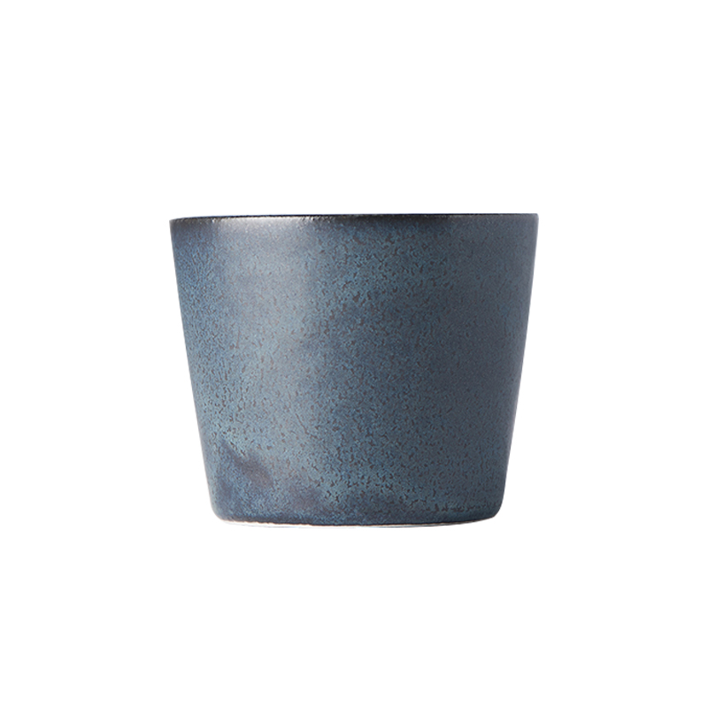 Made in Japan Hrnek bez ucha Ramekin modro-černý 200 ml