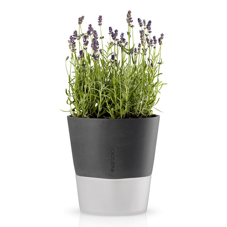 Samozavlažovací květináč šedá OE 20,5 cm, Eva Solo
