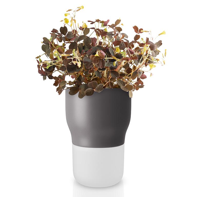 Samozavlažovací keramický květináč šedý OE 9 cm, Eva Solo
