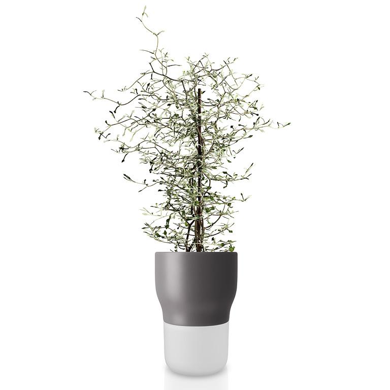 Samozavlažovací keramický květináč šedý OE 13 cm, Eva Solo