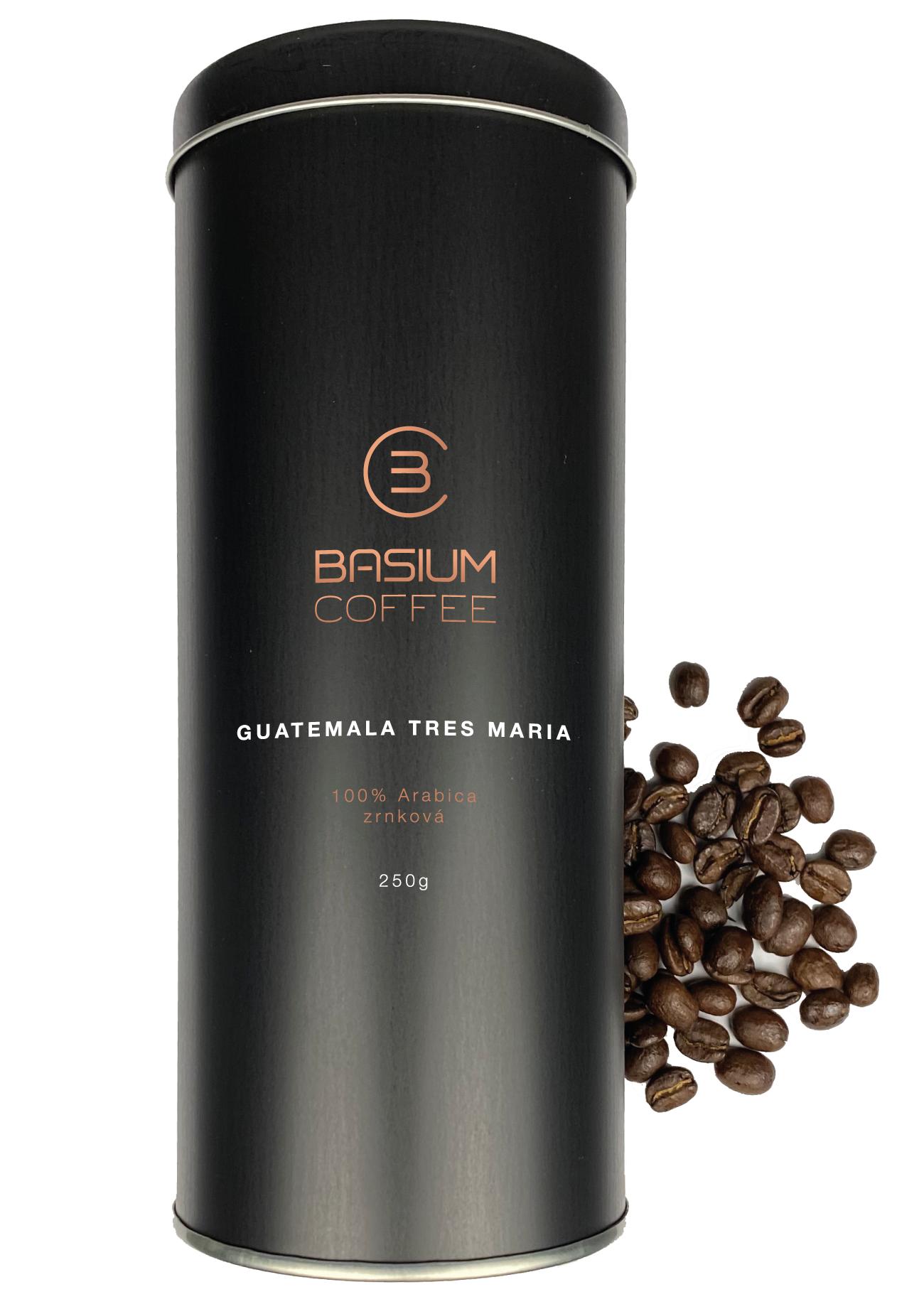 Levně Basium coffee guatemala tres maria dárková dóza zrnková 250g