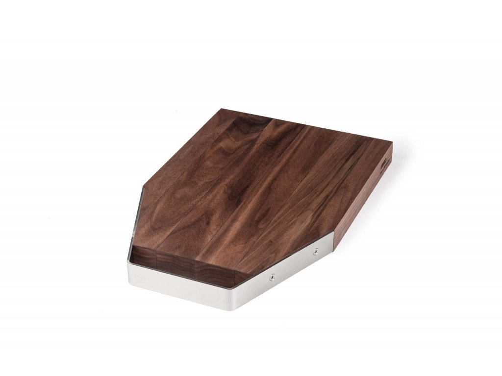 Levně UBRD Krájecí prkénko dřevěné Nerez M kartáčovaný lesk