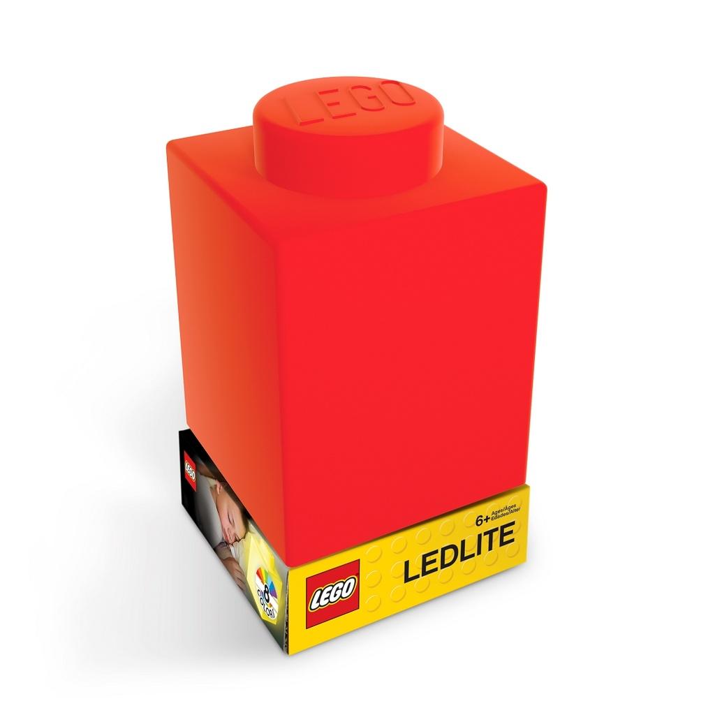 Levně LEGO Classic Silikonová kostka noční světlo - červená