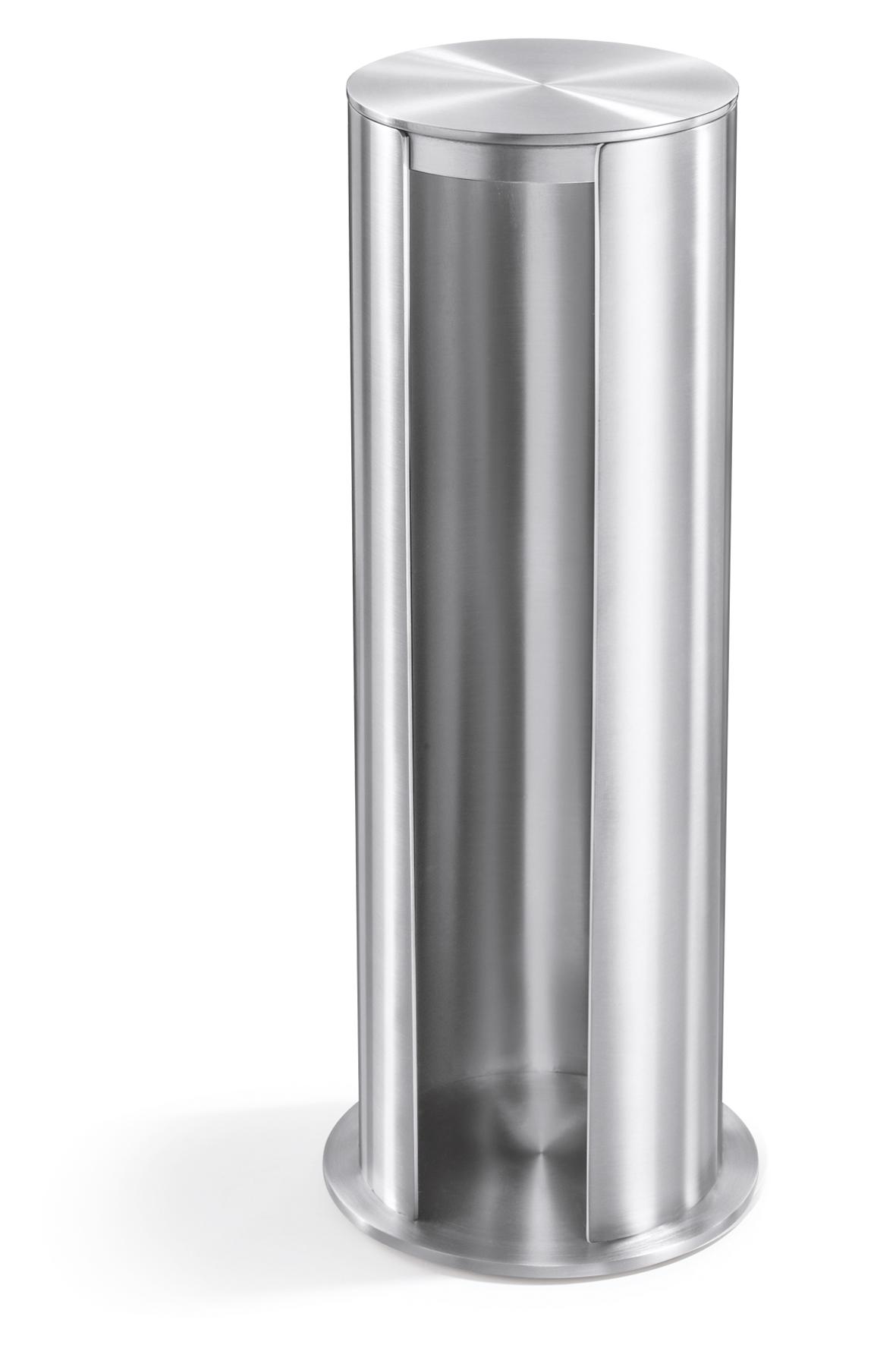 Zásobník na kosmetické tampóny nerezový broušený YARA ZACK