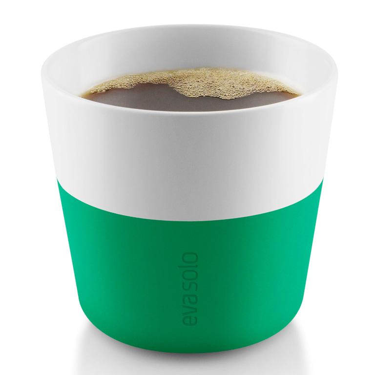 Termohrnky na kávu Lungo 230 ml 2 kusy tmavě zelené, Eva Solo