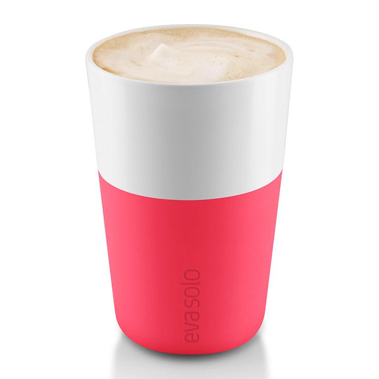Termohrnky na café latte 360 ml 2 kusy růžové, Eva Solo