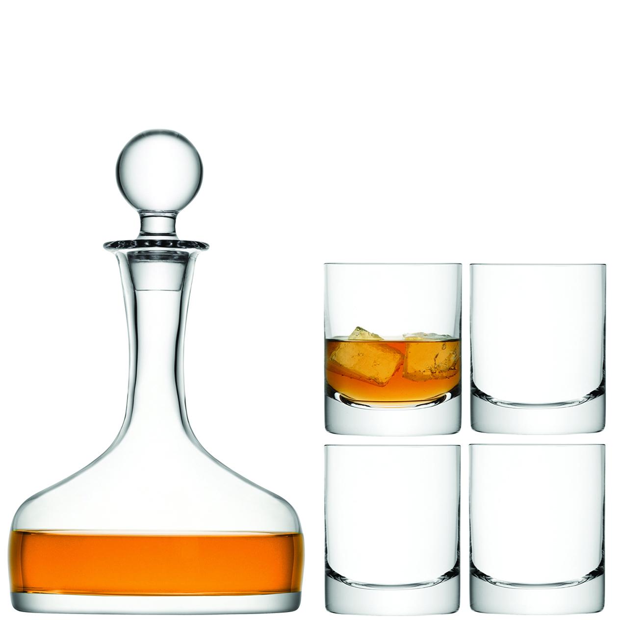 LSA INTERNATIONAL LSA dárkový set Whisky, 4 sklenice (250ml), karafa (1,6l), čiré
