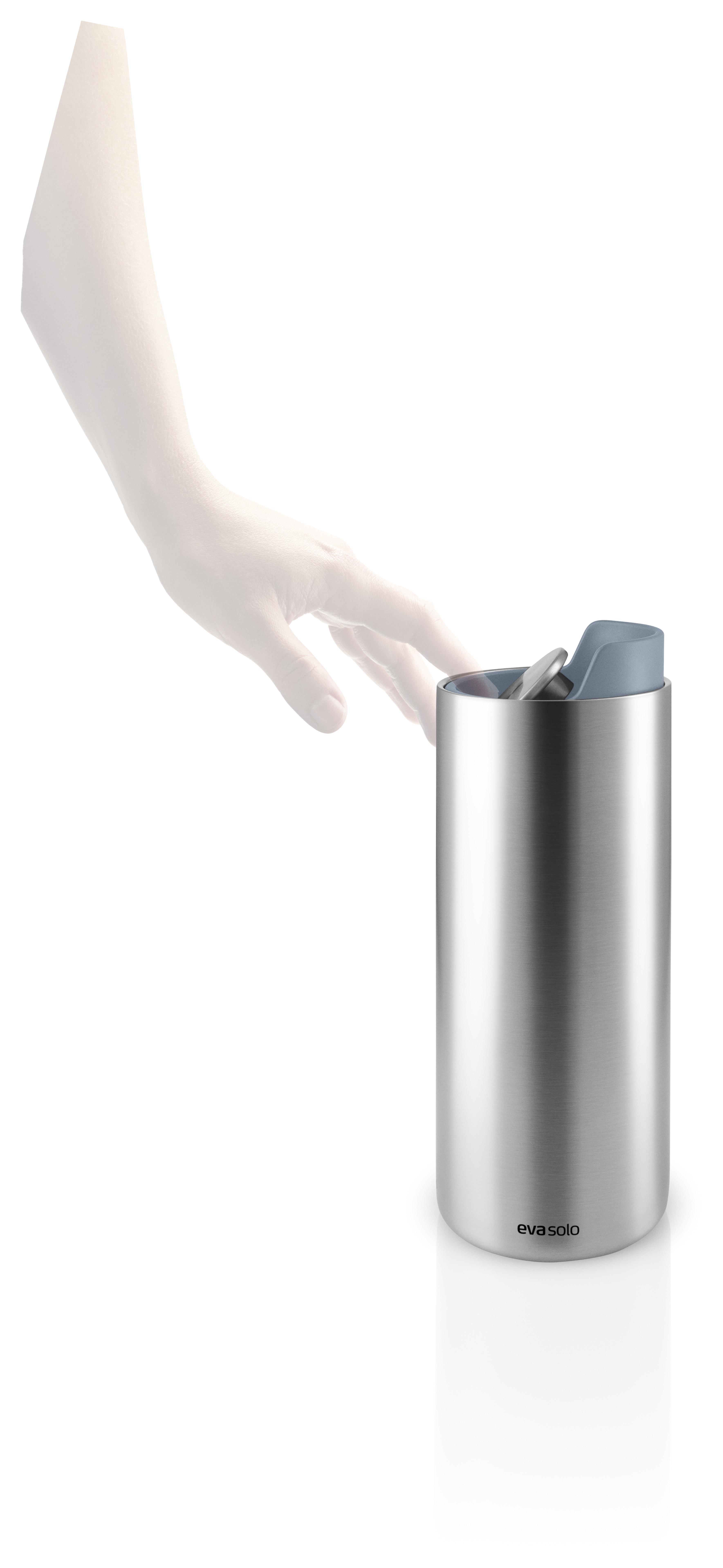 Nerezová termoska na kávu i čaj s kovově modrým víkem 0,35l Eva Solo