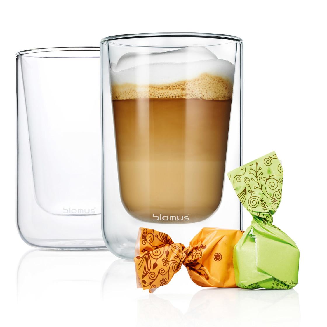 Levně Set termosklenic na cappuccino 250 ml NERO BLOMUS