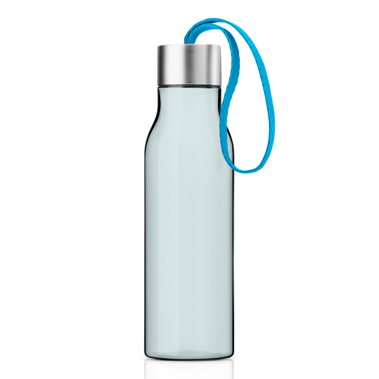 Lahev na pití 0,5 l s lagunově modrým řemínkem, Eva Solo