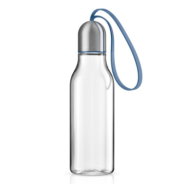 Sportovní lahev na pití 0,7 l s modrým řemínkem, Eva Solo