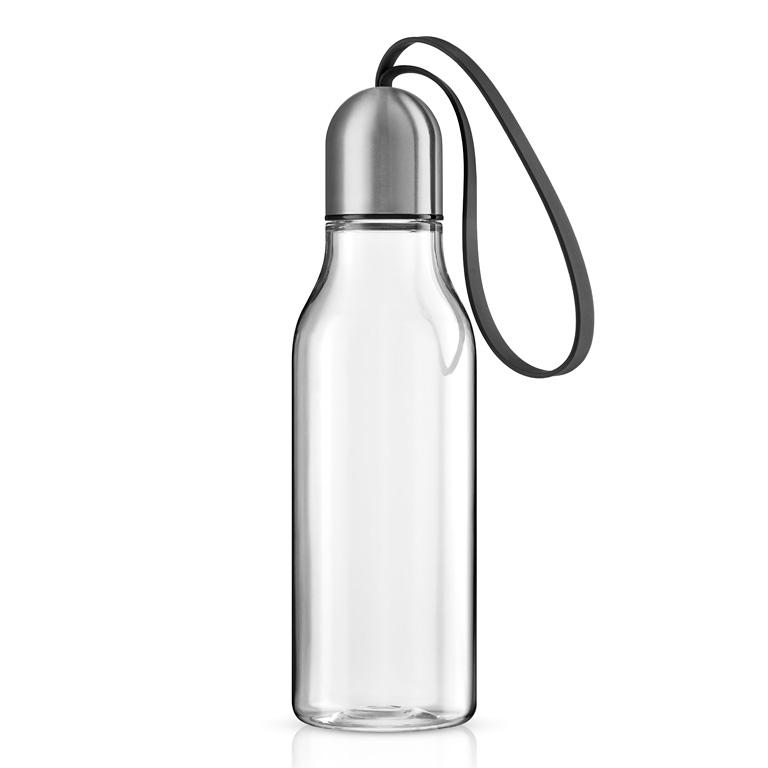 Sportovní lahev na pití 0,7 l s černým řemínkem, Eva Solo