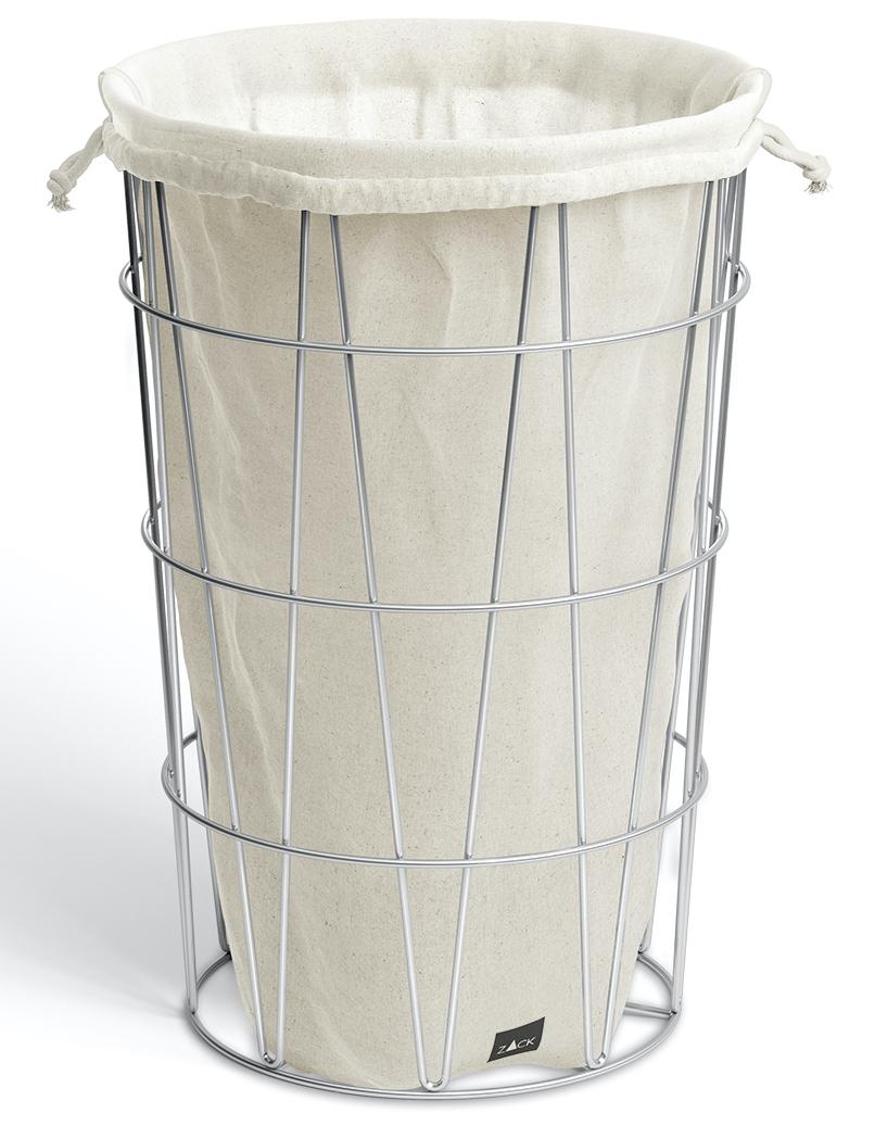ZACK Koš na prádlo s vakem nerezový drátěný