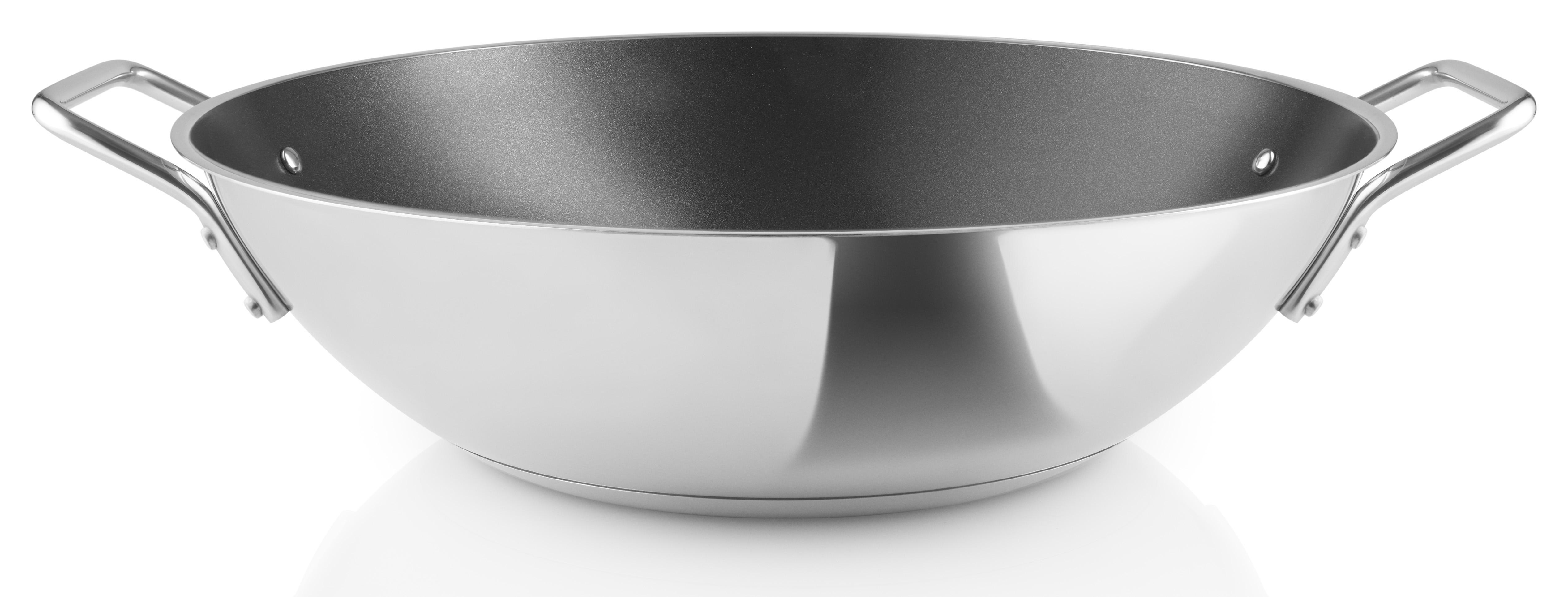 EVA SOLO Nerezová pánev wok s nepřilnavým keramickým vnitřním povrchem Ø 32 cm