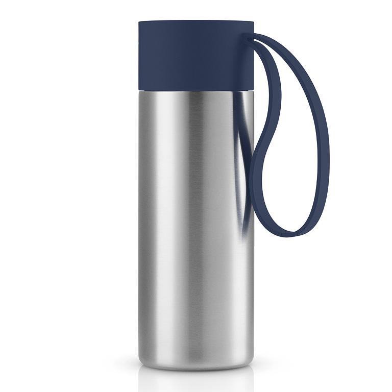 Nerezový termohrnek To Go 0,35 l s námořnicky modrým uzávěrem, Eva Solo