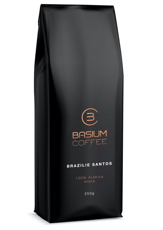 Basium Coffee Brazílie Santos mletá 250g