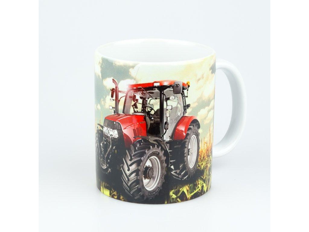 aksok hrnek traktor cerveny