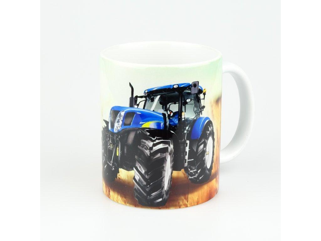 aksok hrnek traktor modry
