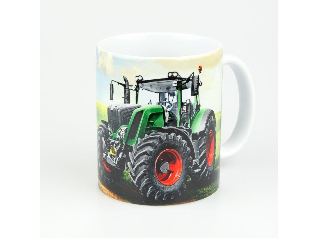 aksok hrnek traktor zeleny