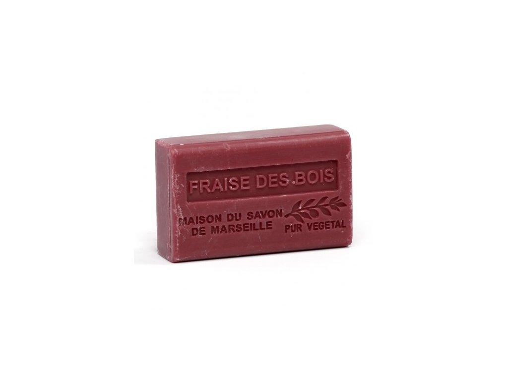 fraise mame des bois savon 125gr au beurre de karite bio fraise des bois