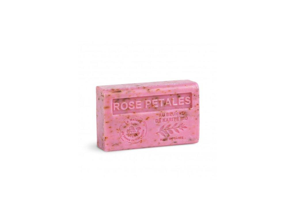 savon 125gr au beurre de karite bio rose petales
