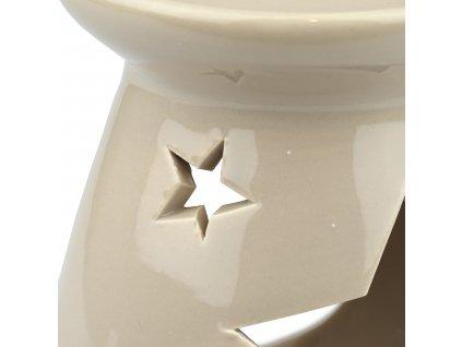 Béžová aromalapma s hvězdami - 11 cm