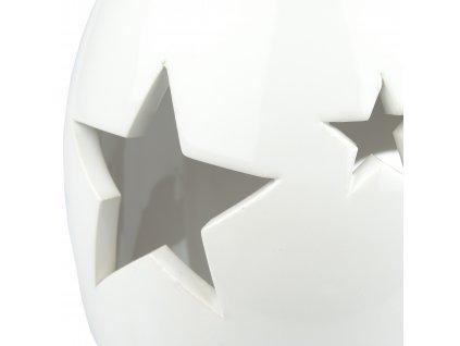 Bílá aromalapma s hvězdami - 14 cm