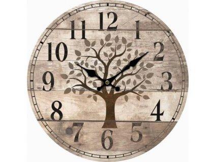 hodiny, strom, prkna