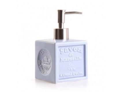 davkovac asi levandulova distributeur de savon cube ceramique bleu clair