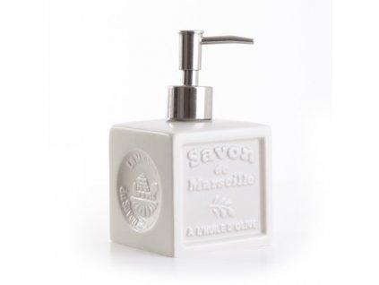 davkovac ivoire distributeur de savon cube ceramique ivoire