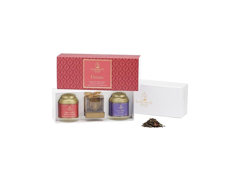 La Via del Té darčeková krabička čajov Firenze 80 g