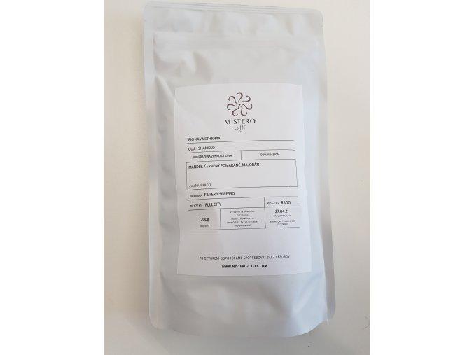 Mistero Etiópia BIO Guji Shakisso 100% Arabica zrnková káva 200g