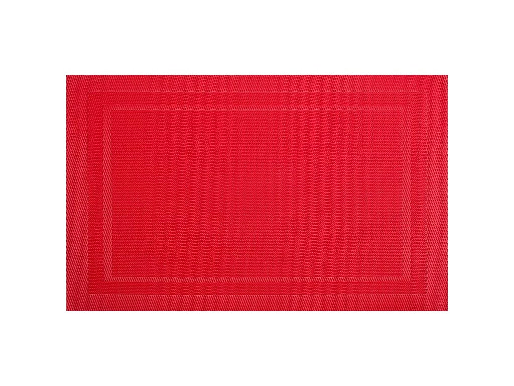 Podložka na stůl PVC / PS Fusion Fresh Red 30 x 45 cm AMBITION