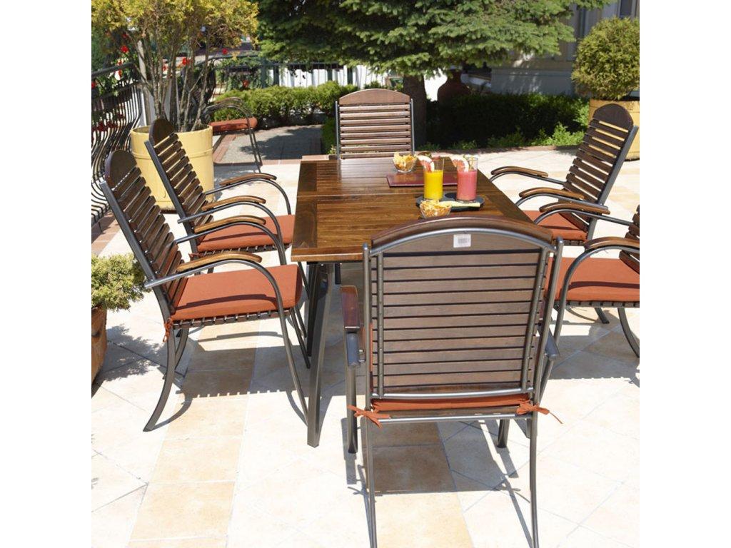 Zahradní dřevěný stůl Astor 160 x 90 cm PATIO