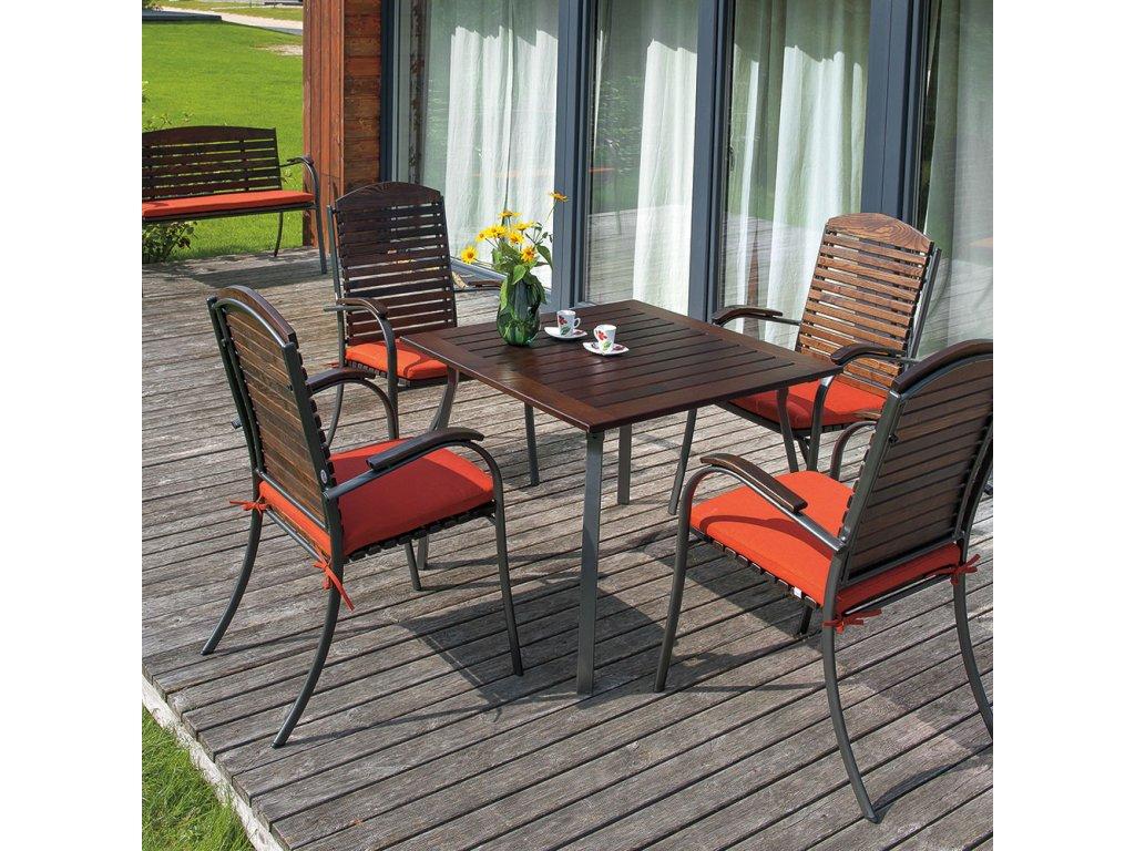 Zahradní dřevěný stůl Astor 90 x 90 cm PATIO