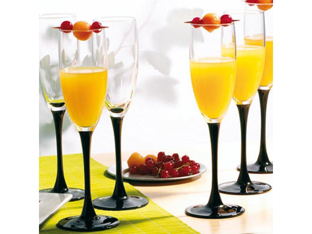 Sada 6 sklenic na šampaňské Domino 170 ml LUMINARC