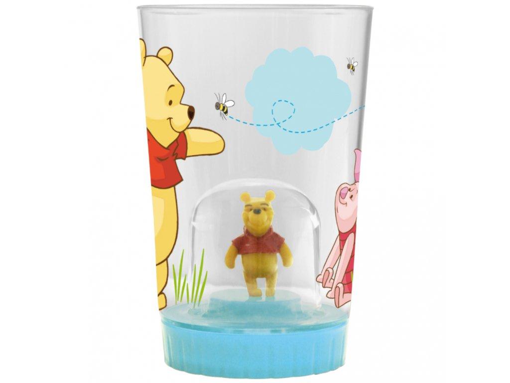Melaminová sklenice se zesíleným dnem Medvídek Pú a balónky 225 ml DISNEY