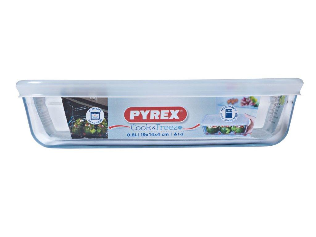 Žáruvzdorná nádobka s víkem Cook & Freeze 19 x 14 cm 0,8 l PYREX