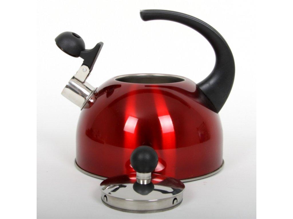 Nerezový čajník Metalic Red 2,5 l DOMOTTI