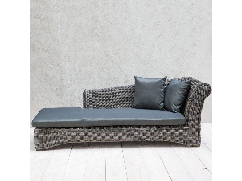 Zahradní lůžko / sofa z technorattanu Paris Ash PATIO (pravá opěrka)