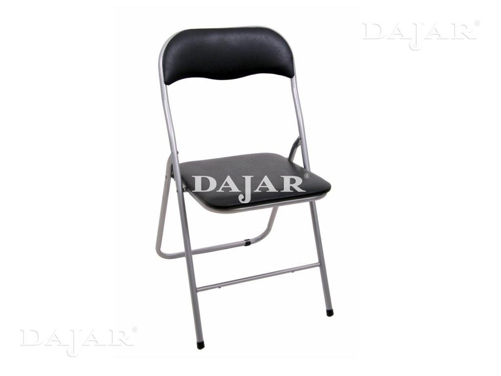 Skládací zahradní židle Black / Silver PATIO