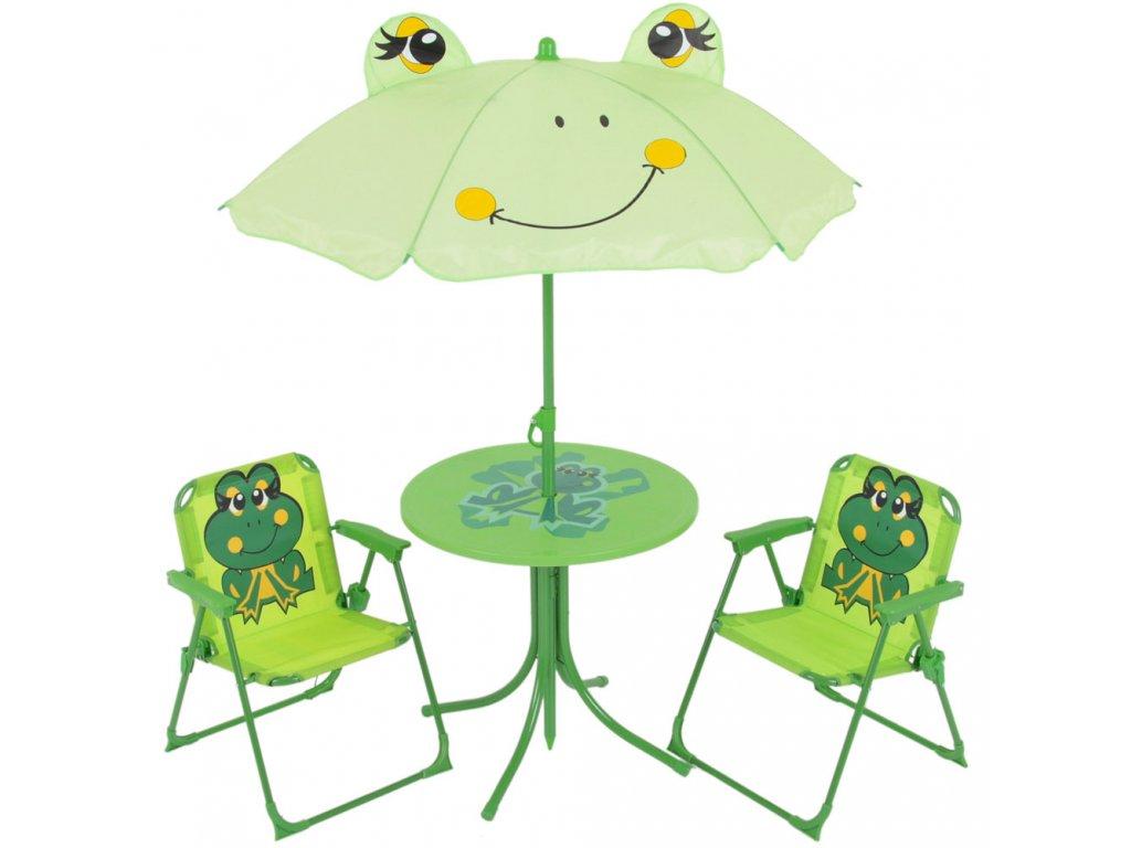 Souprava dětského zahradního nábytku Žabka PATIO