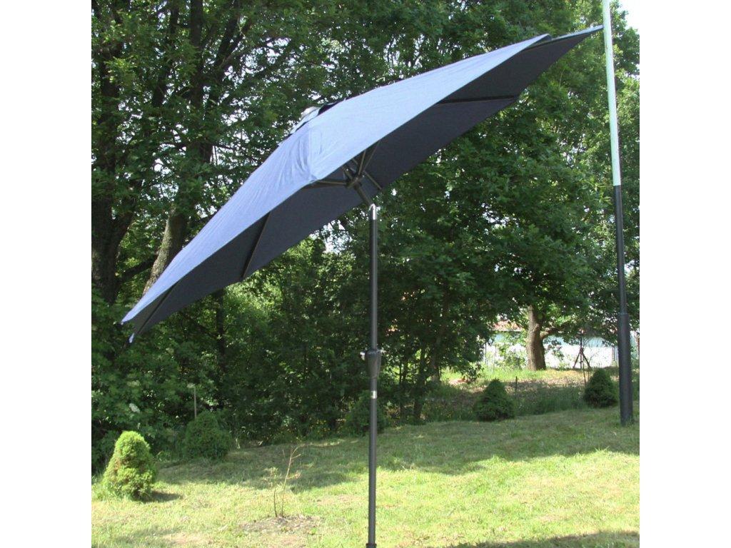 Hliníkový zahradní slunečník Alu Blue 3 m PATIO