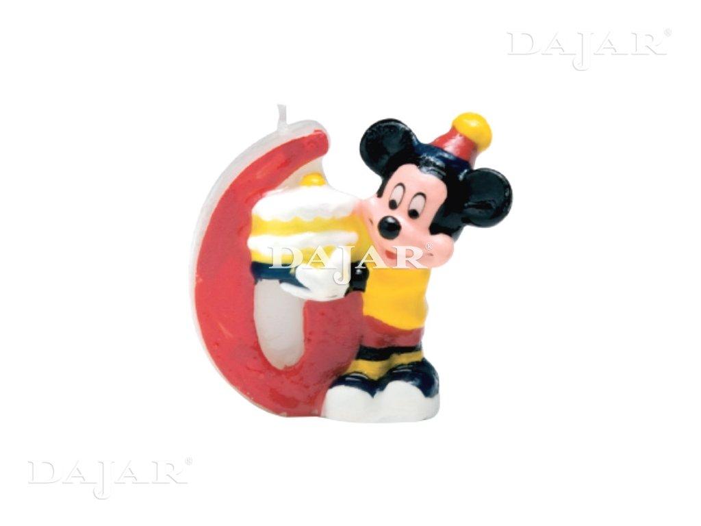 Narozeninová svíčka Mickey Mouse Club 6 years DISNEY