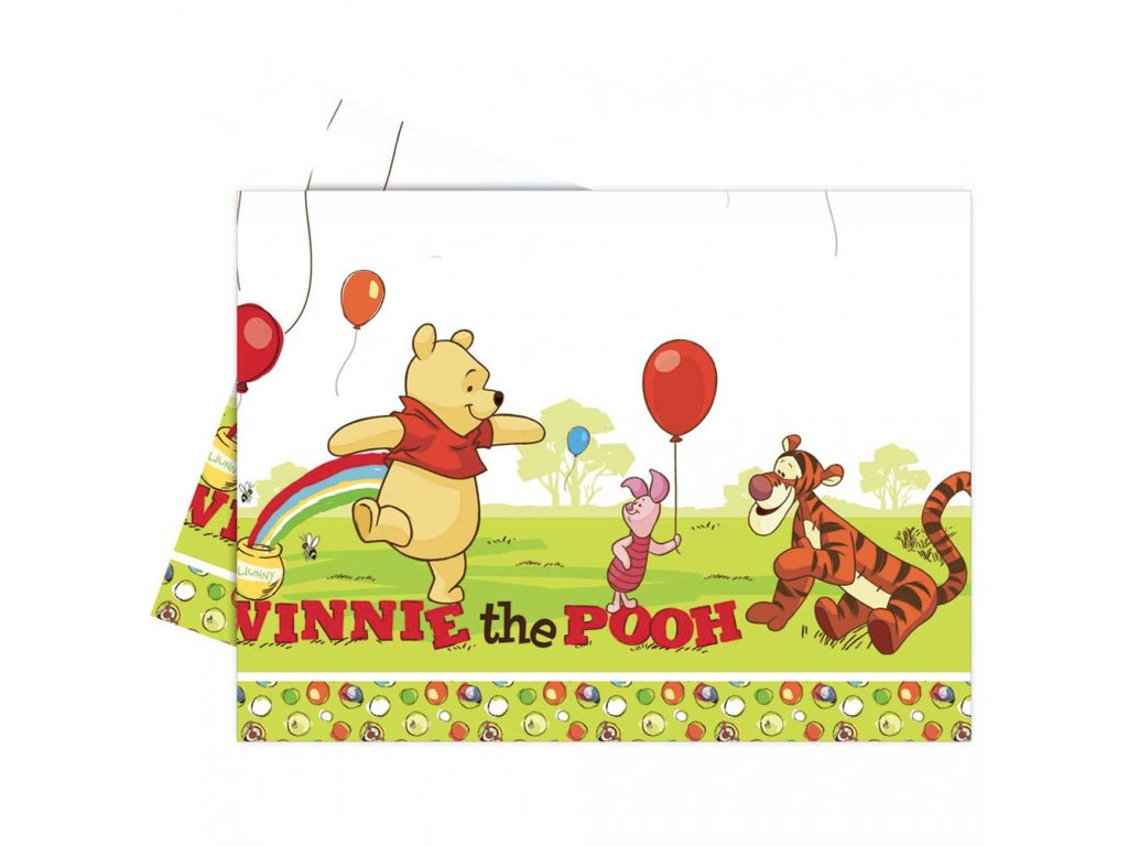 Ubrus fólie Medvídek Pú a přátelé 120 x 180 cm DISNEY