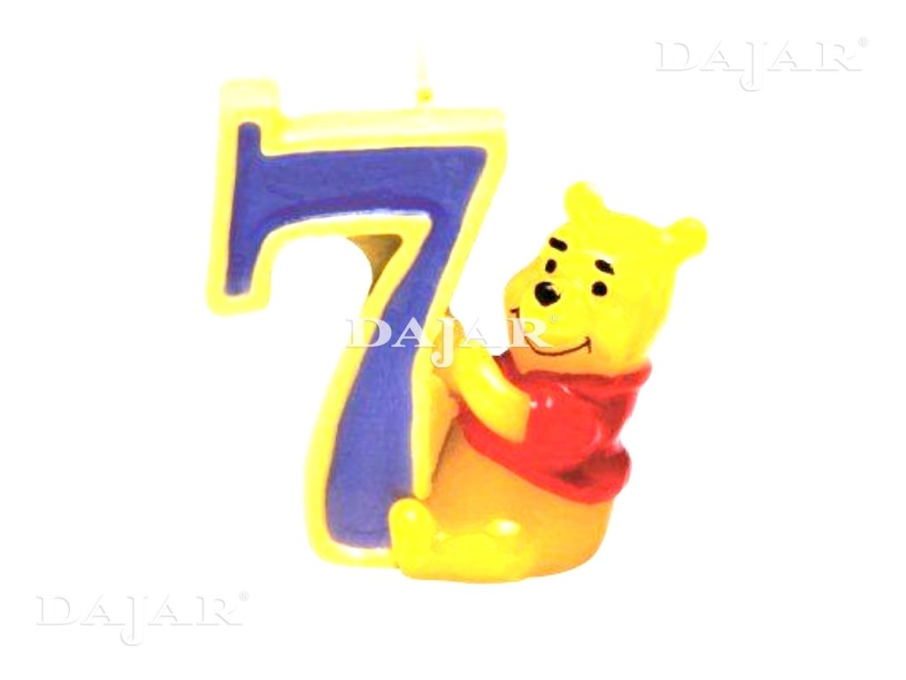 Narozeninová svíčka Medvídek Pú Happy Birthday 7 years DISNEY