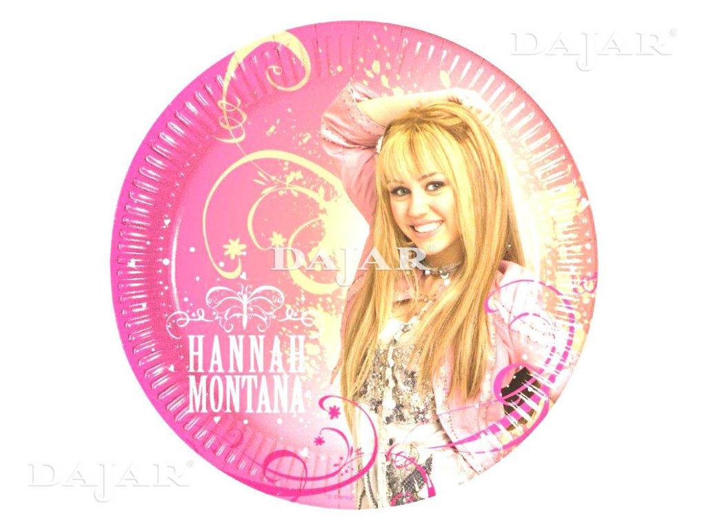 Sada 10 papírových talířů Hannah Montana 23 cm DISNEY